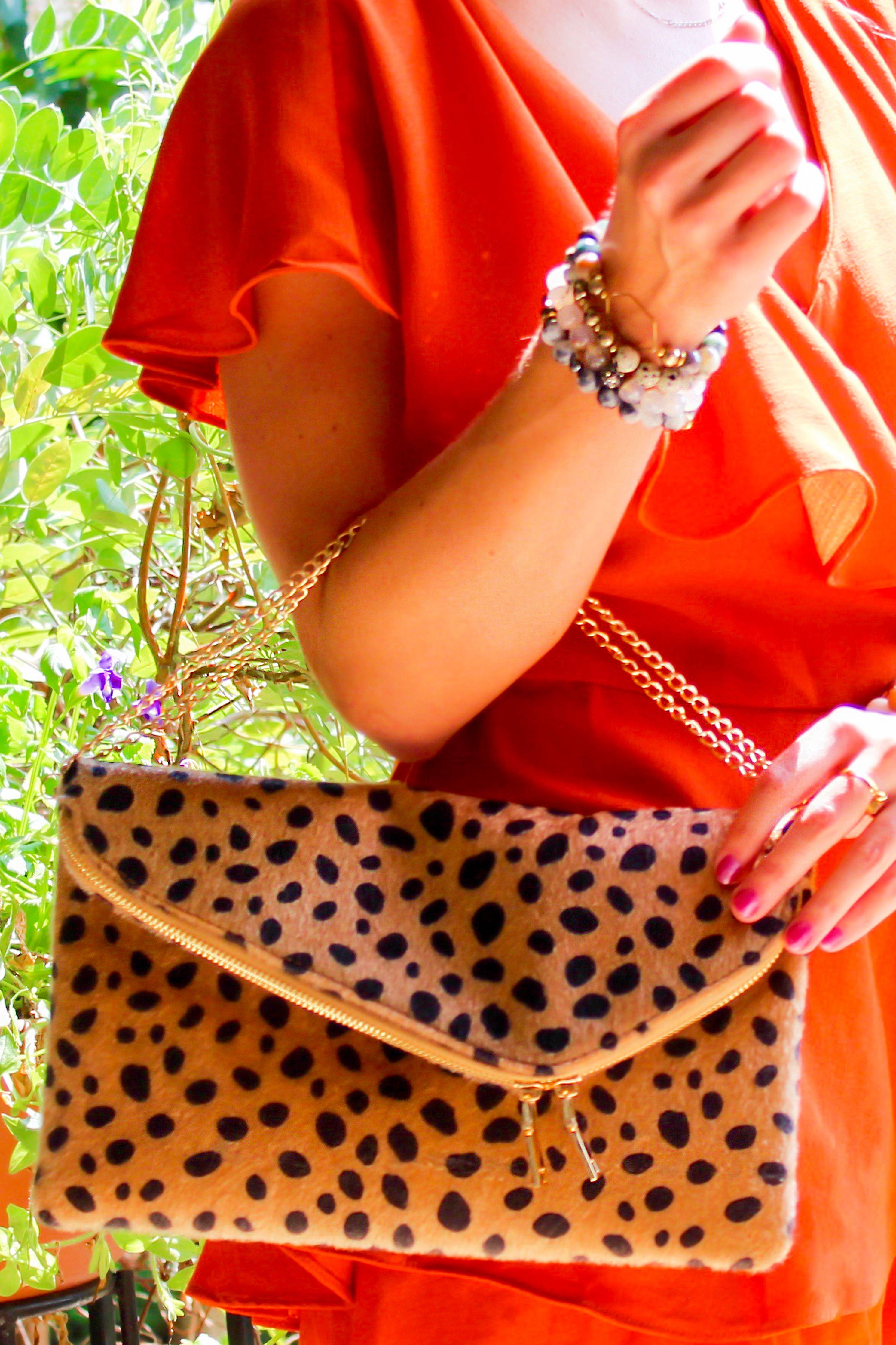 b715bdc4ddf7 Leopard Foldover Clutch, Cheetah Print Clutch, Animal Print Clutch, Leopard  Crossbody Handbag,