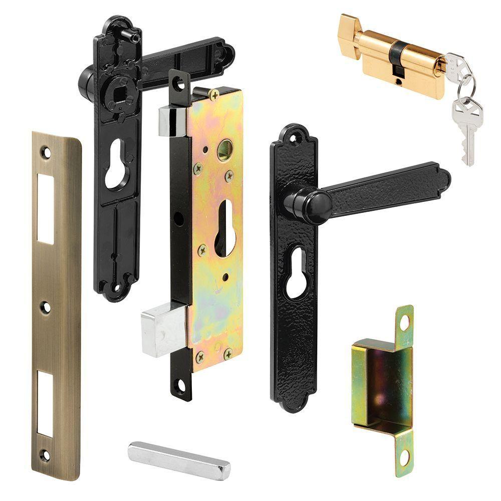 Prime-Line Security Screen or Storm Door Lever Set, Lock