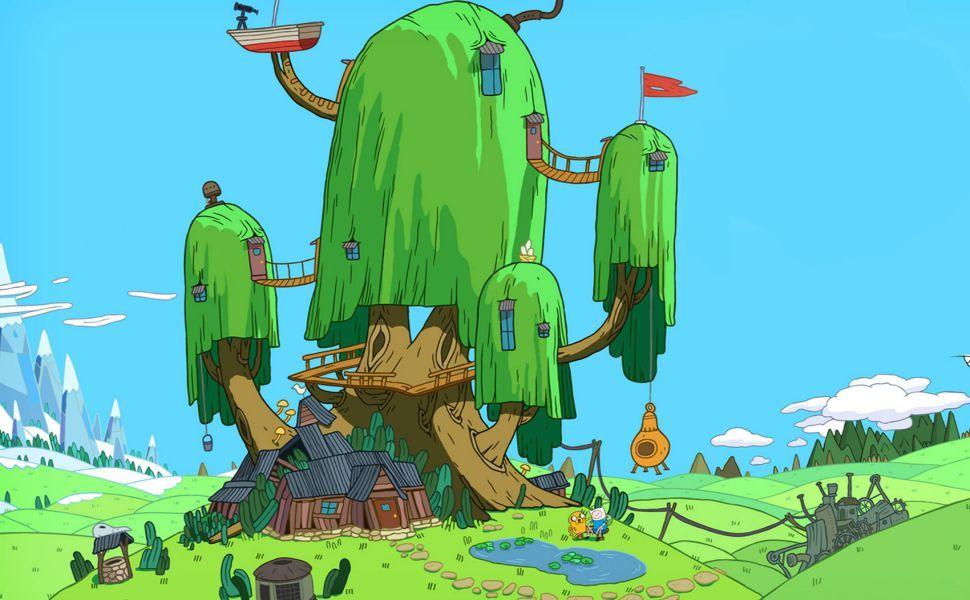 Adventure Time Treehouse Hd Wallpaper Adventure Time Rumah Pohon Pohon