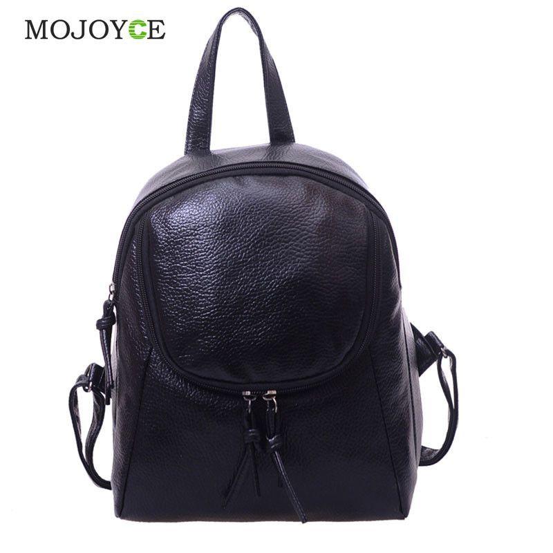 970bb58627 Leisure Women Backpack Waterproof PU Leather School Bags for Teenage Girls  Ladies Rucksack Small Travel Backpack Bolsa Feminina
