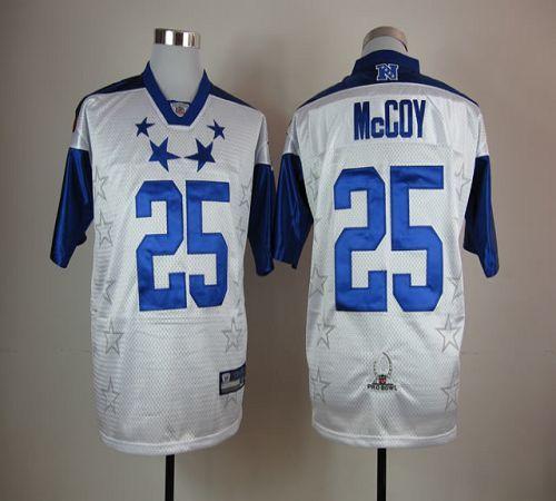size 40 6b9ff f999b Eagles #25 LeSean McCoy White 2012 Pro Bowl Stitched NFL ...