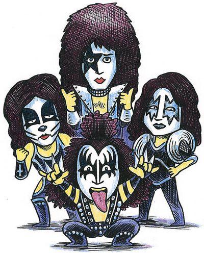 Pin De Amaya Guintu En Rock Rock Dibujos Banda De Rock Kiss Dibujos