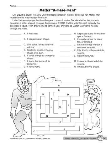 The Mailbox Science Worksheets Lesson Plans Lesson 5th grade matter worksheets