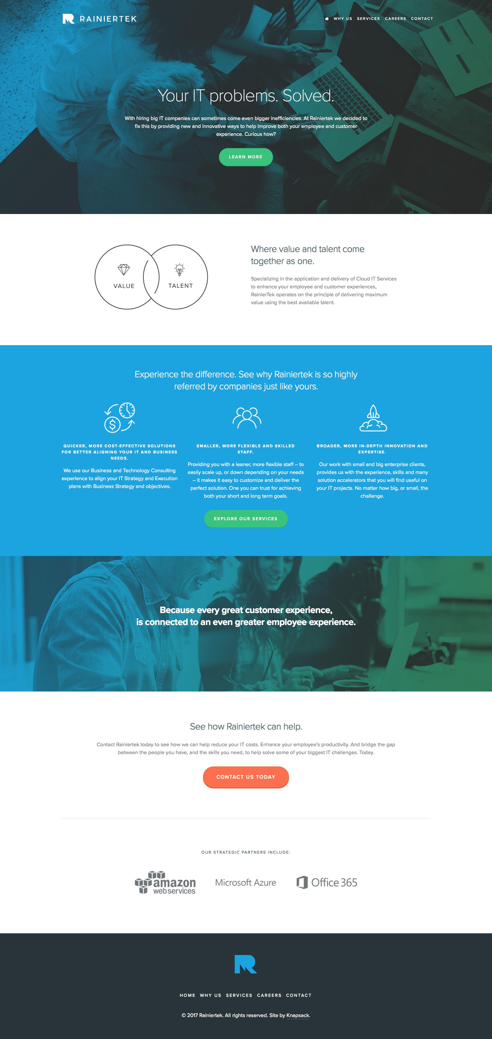 A Sleek Website Design For An It Company Using The Nueva Squarespace Template Webdesign Design Website Design Squarespace Design Squarespace Website Design