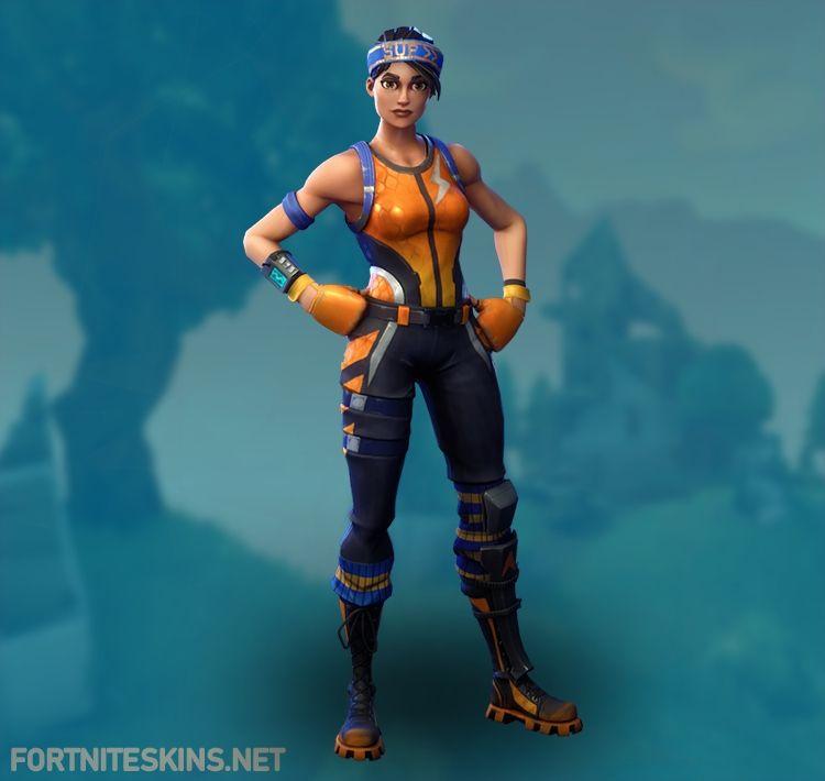 Blue And Orange Fortnite Skin Fortnite Dazzle Outfits Fortnite Skins
