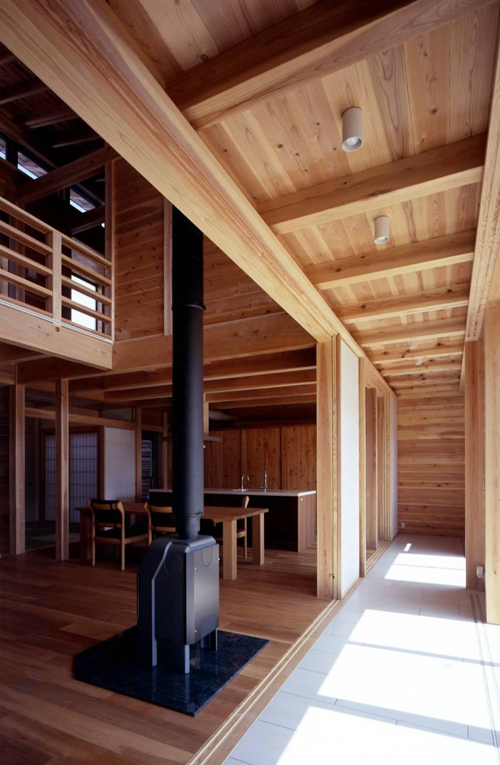 縁側土間スペース オリジナルスタイルの 温室 の Han環境 建築設計