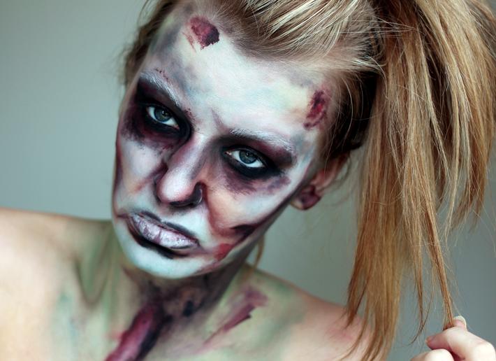 The Walking Dead Halloween Make-up | A Tutorial | disfraz ...