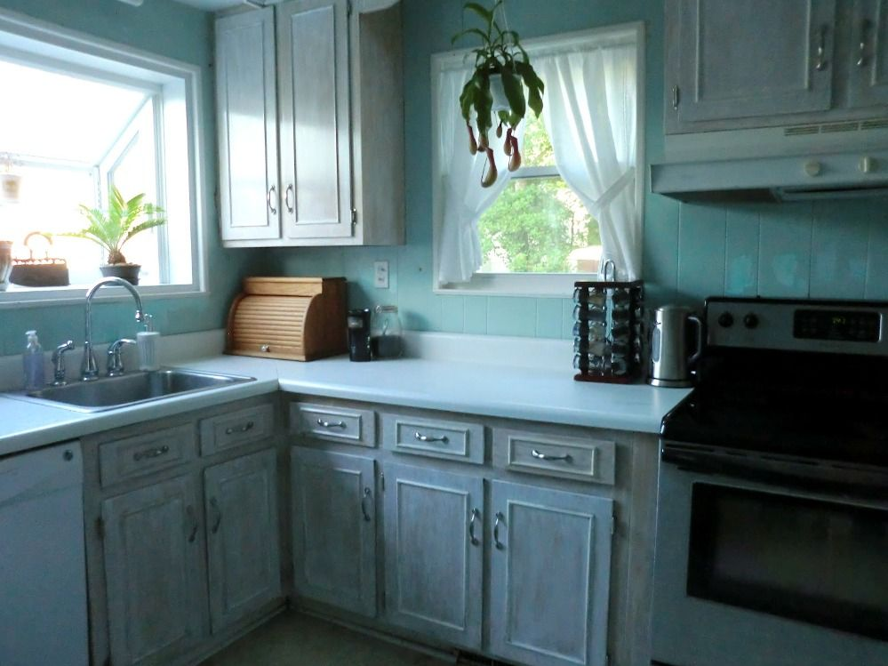 DIY Reconditioning Whitewashed Kitchen Cabinets   Kitchen ...