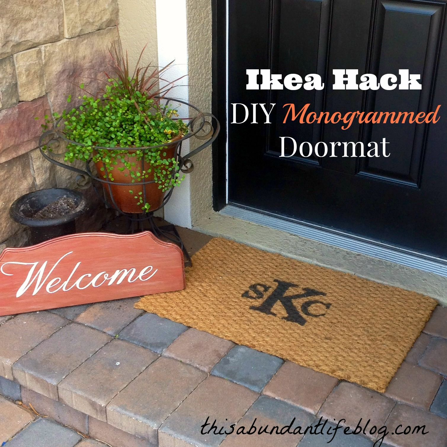 mats letter summer welcome s monogram on area outdoor monogrammed door garden sales u mat shop and rug nuloom