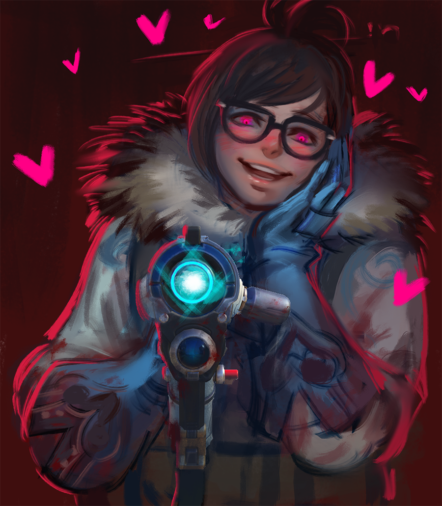 Shes Evil  | Mei in 2019 | Overwatch mei, Overwatch drawings