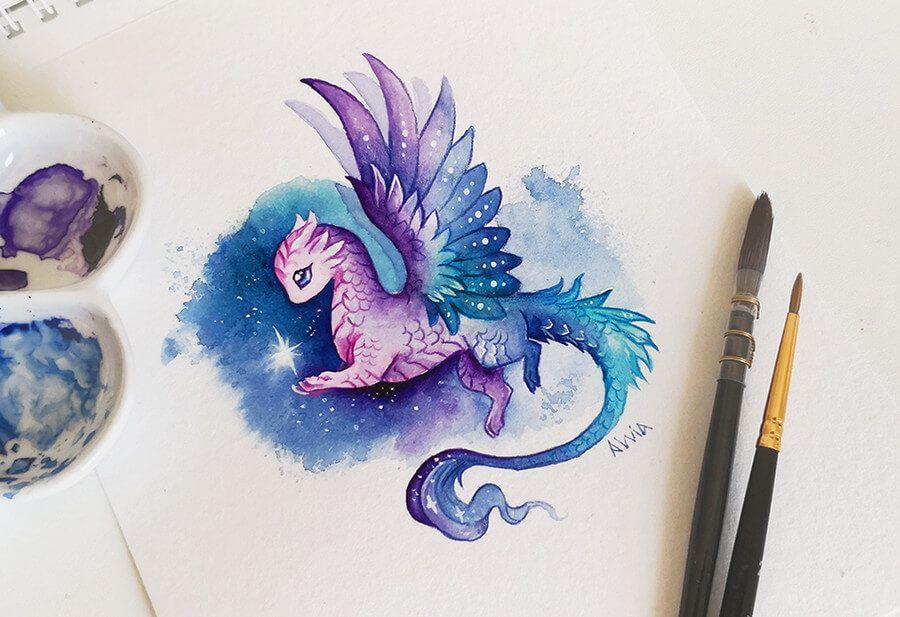 Fantasy Dragons Art.