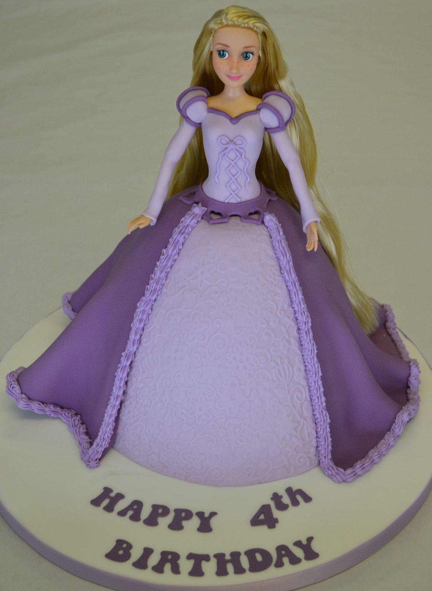 Rapunzel Doll Cake Kids Birthdays Pinterest Rapunzel Dolls - Birthday cake doll princess