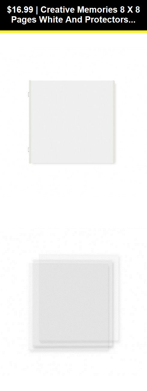 12 ea Creative Memories 8 x 8 Pages White and Protectors refills.
