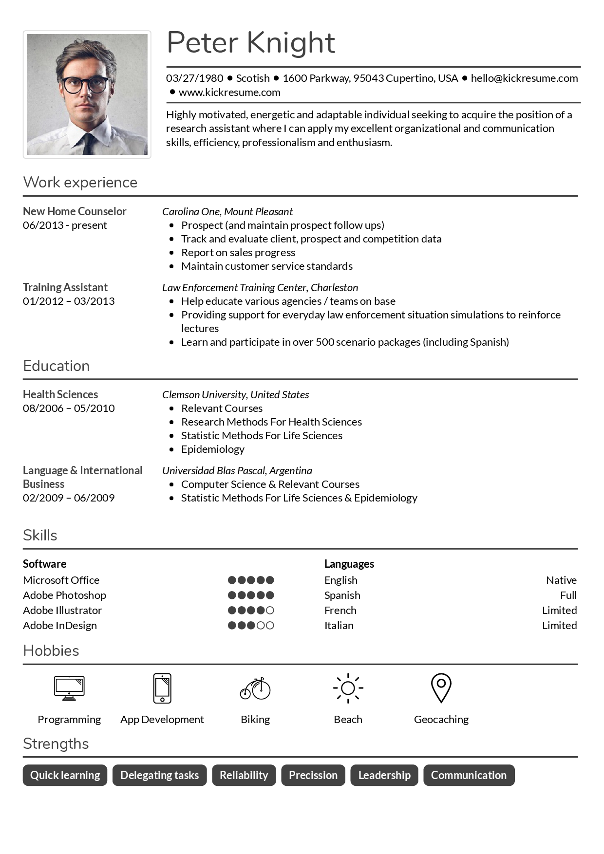 Kickresume Perfect resume and cover letter are just a