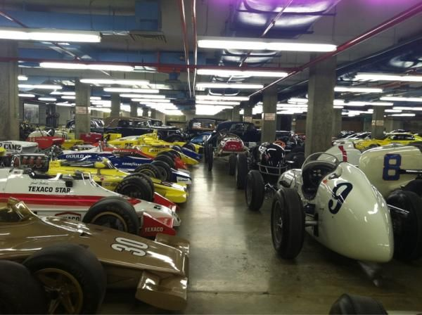 The Basement Of The Indianapolis Motor Speedway Museum Indy Cars Indianapolis Motor Speedway Race Cars
