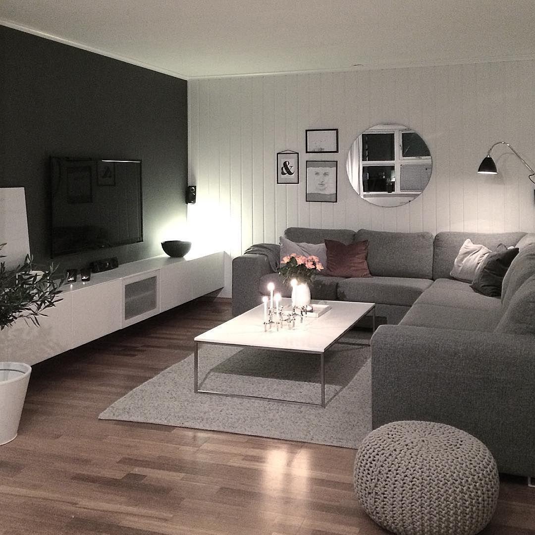 Épinglé par Grbs sur Salon gris et blanc  Décoration salon
