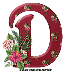 Alphabets By Monica Michielin Tropical Flowers Hawaii Alphabet And Icons Png Alfabeto Flores Tropicais Havai Tropical Flowers Tropical Flowers Hawaii Flowers