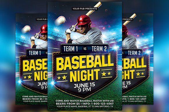 baseball match flyer template creativework247 flyer templates