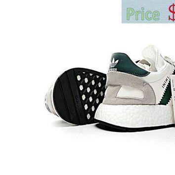 huge selection of 7dd54 e88c0 2018 Popular Gucci X adidas Iniki Runner White White Green Red Khaki  Trainers 2017 sneaker