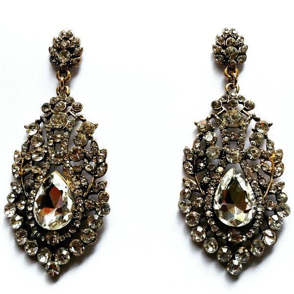 Vintage Chandelier Crystal Earrings  shopjewelry collection  Vintage Chandelier Crystal Earrings  $45.00