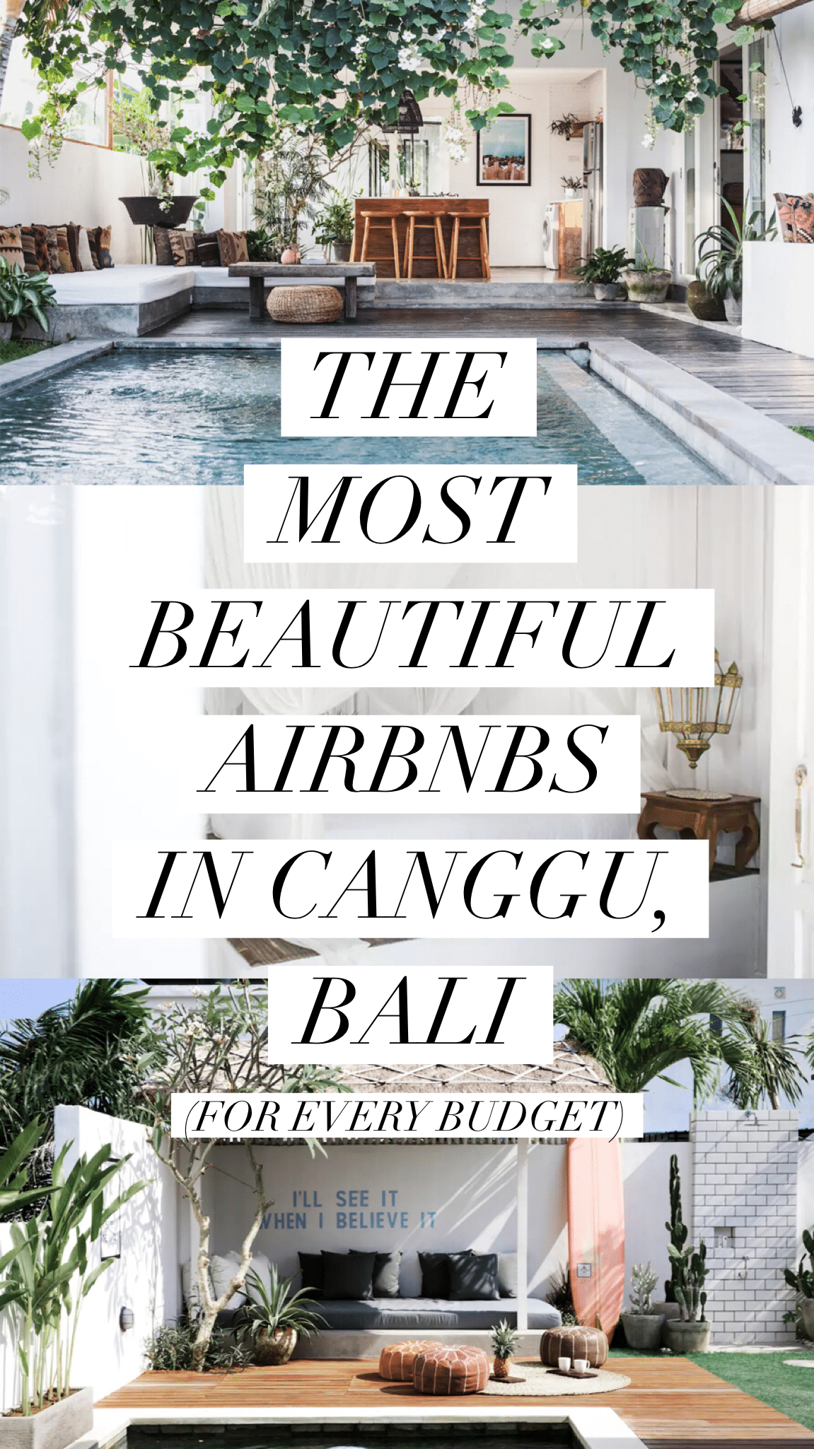 The Most Beautiful Airbnbs in Canggu, Bali For Every Budget - Live Like It's the Weekend