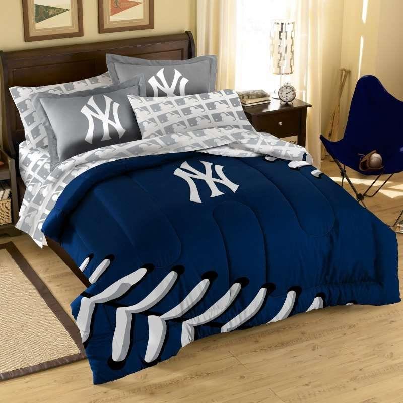 New York Yankees Mlb Comforter Set Yankee Bedroom