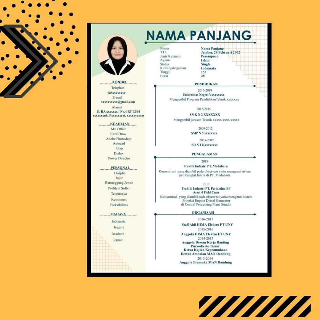 Pin On Cv Kreatif