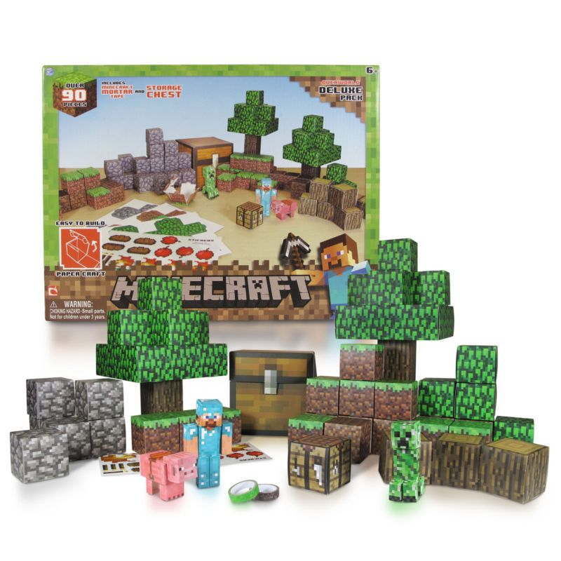 Minecraft Papercraft Overworld 90pc Pack Haylees Stuff
