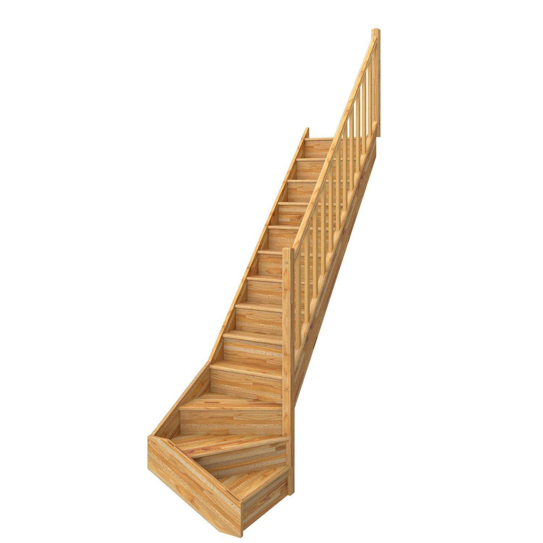 Escalier 1 4 Tournant Bas Droit Bois Hetre Deva 2 13 Mar Hetre Rampe D L 76 Escalier Bois Hetre Escalier 1 4 Tournant