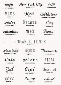 FREE 25 romantic fonts | a subtle revelry