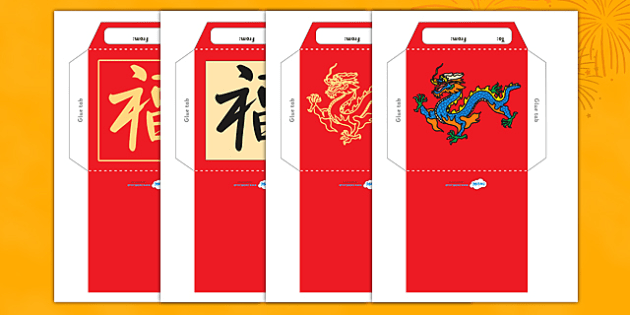 Chinese New Year Money Wallet Envelope Template