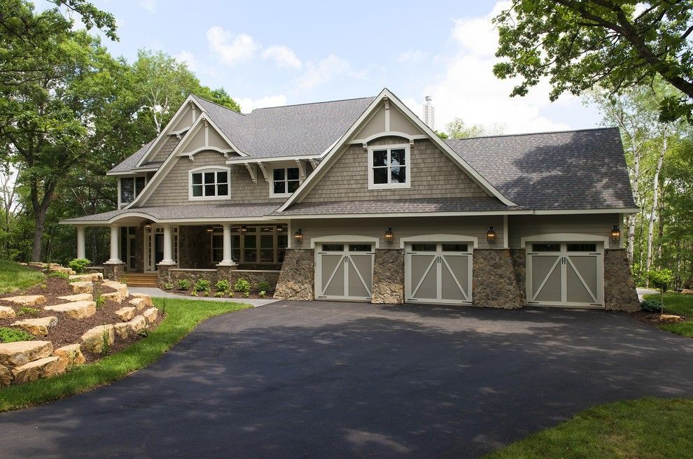 Sherwin Williams Anew Gray For A Traditional Exterior With A Carriage Doors And Hampton Cottage