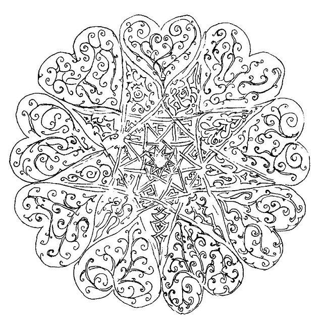 valentine mandala coloring pages   Mandala coloring pages ...