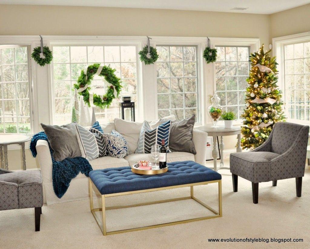 Window ideas for a sunroom   christmas decor ideas  christmas decor sunroom and living room ideas