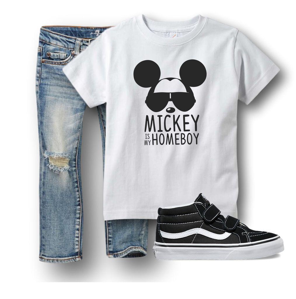 Mickey Is My Homeboy Boys Disney Shirt