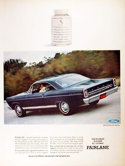 1966 Ford Fairlane Gt Classic Vintage Print Ad Ford Fairlane Fairlane Classic Cars Usa