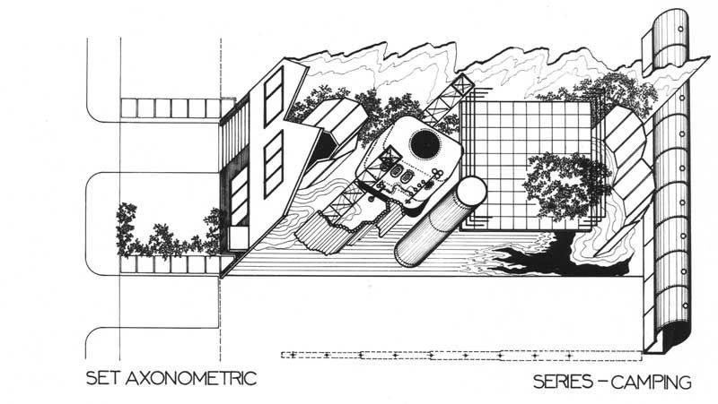 Ron Herron - Suburban set projects, 1975