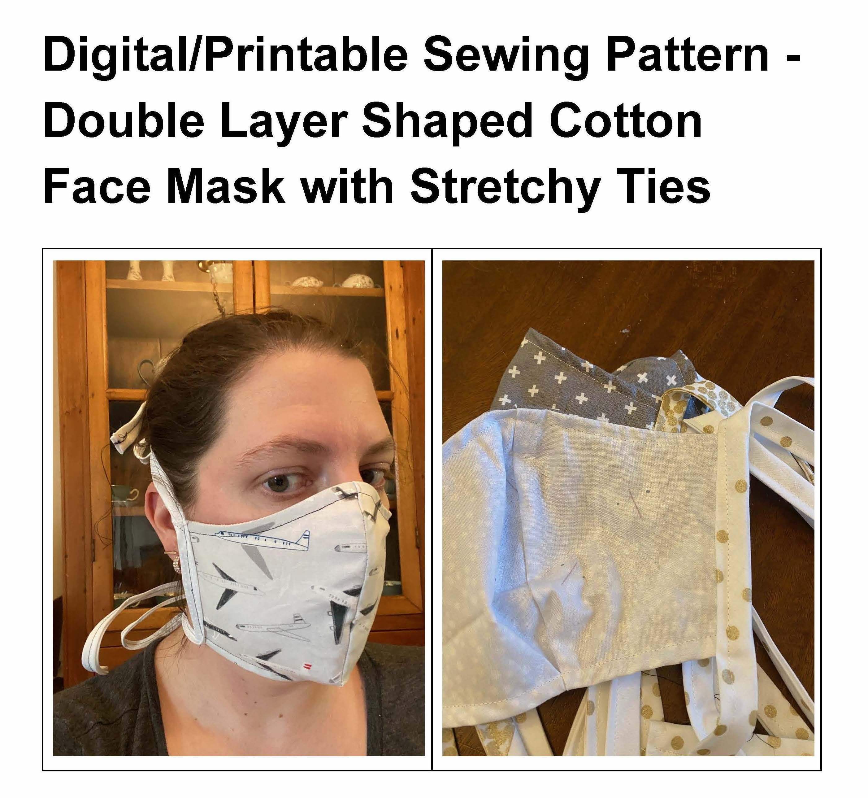 The Best Fitting Diy Cloth Face Mask Sewing Pattern Double Layer