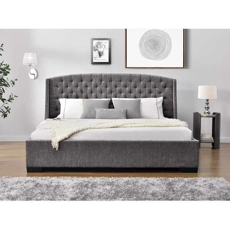 Bed Frame And Mattress Bundle Super King King Queen Hampton Elite Bed Frame Mattress Fabric Bed Frame