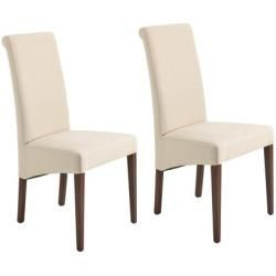Photo of 2x dining chair Fano, chair kitchen chair, artificial leather chrome 'black MendlerMendler – https://pickndecor.com/ideas