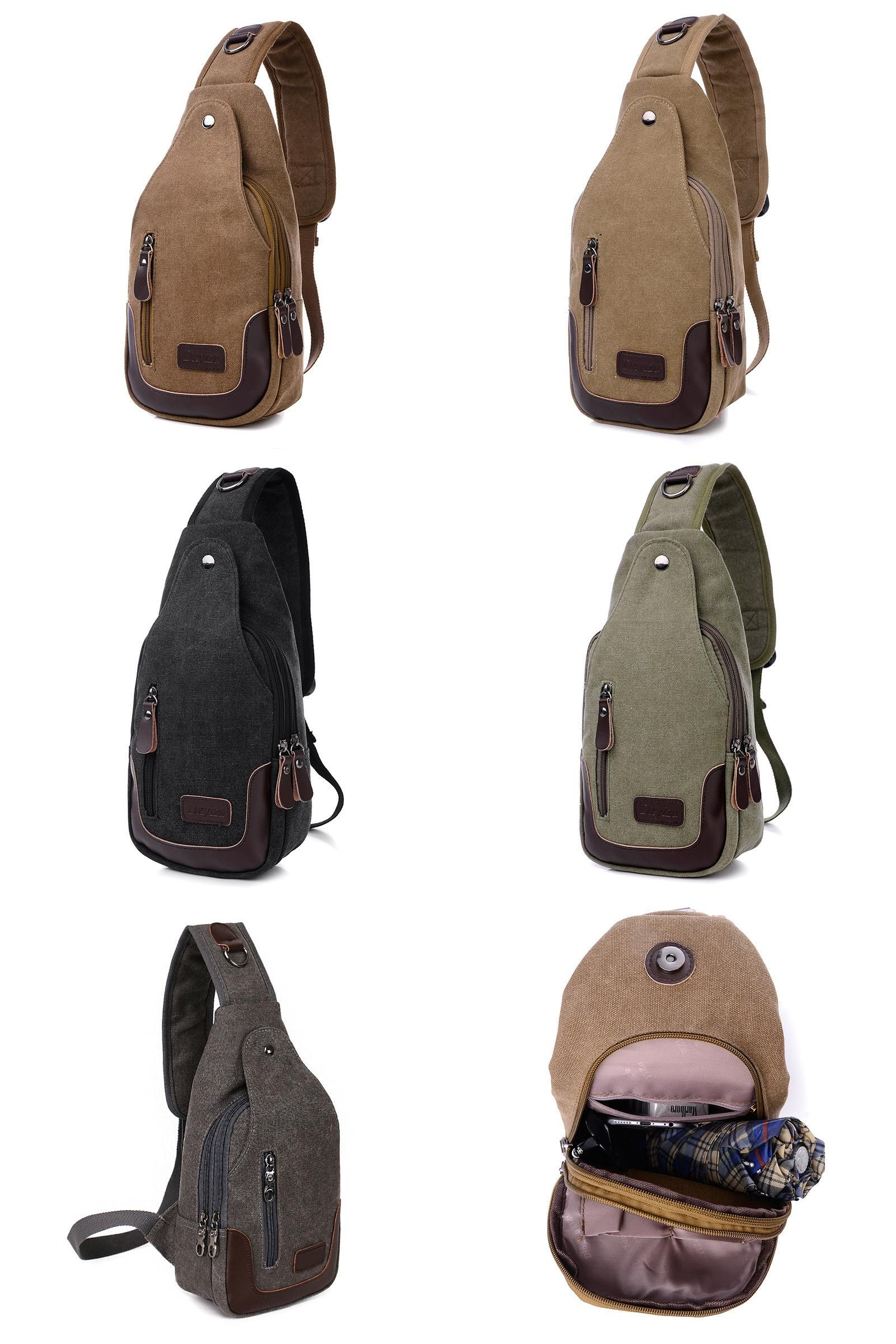 Visit to Buy  Casual Rugzakken Canvas Men Backpack Retro Vintage Male  Student School Bags 4ab4410ae592e