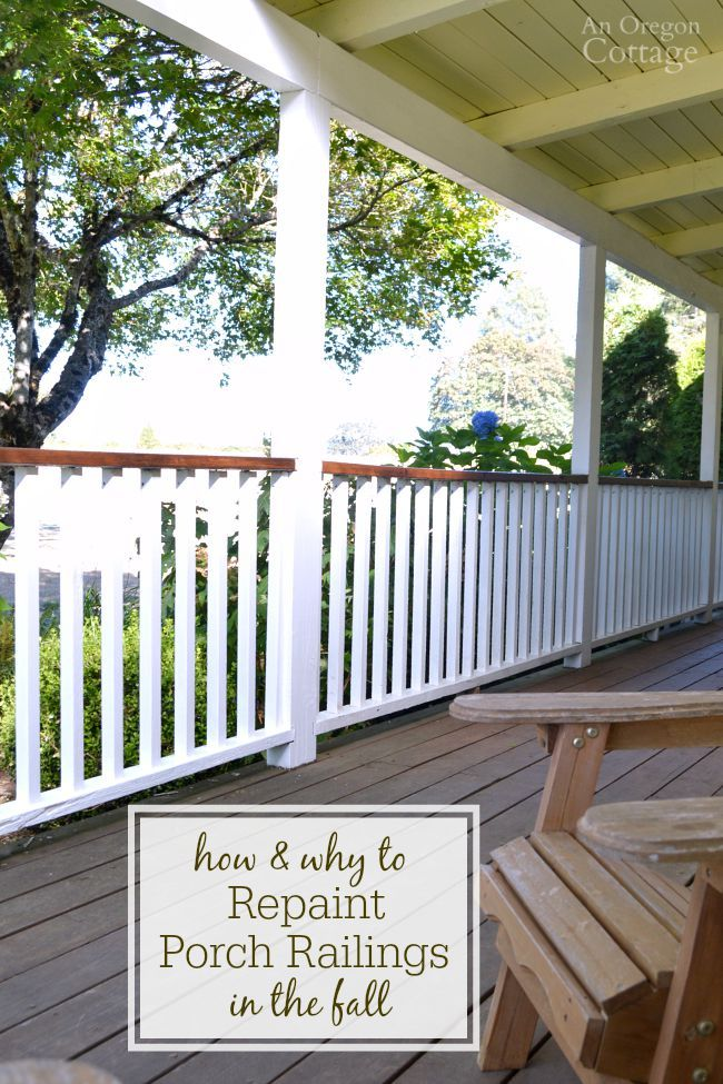 How And Why To Repaint Porch Railings In The Fall Yes