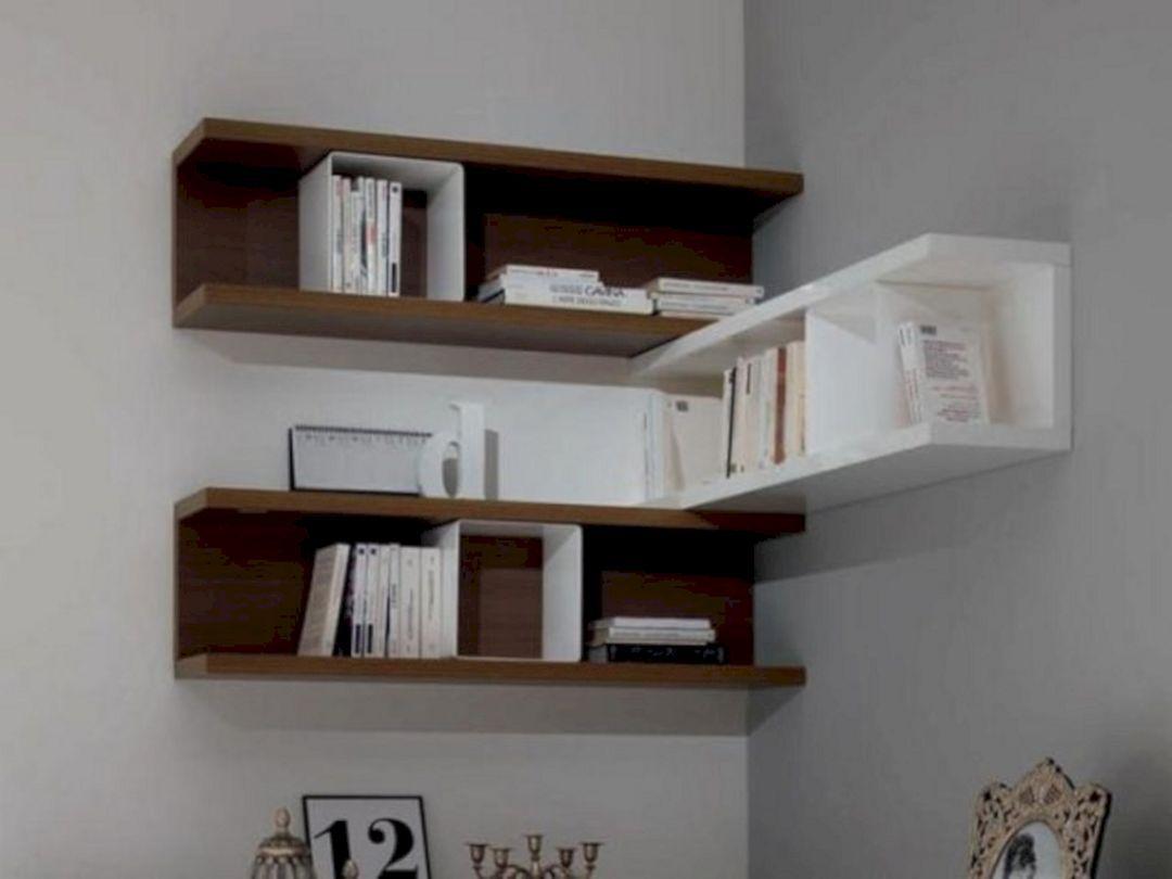 6 Easy Ways To Beautiful Home Corner Decoration Ideas Teracee Unique Wall Shelves Wall Shelf Decor Wall Mounted Corner Shelves