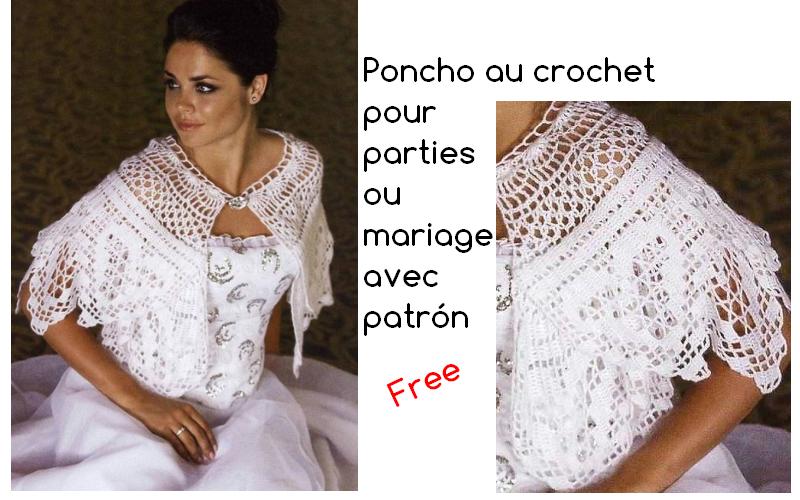 Poncho au crochet pour parties avec le patrón | 4 neck wormers, caps ...