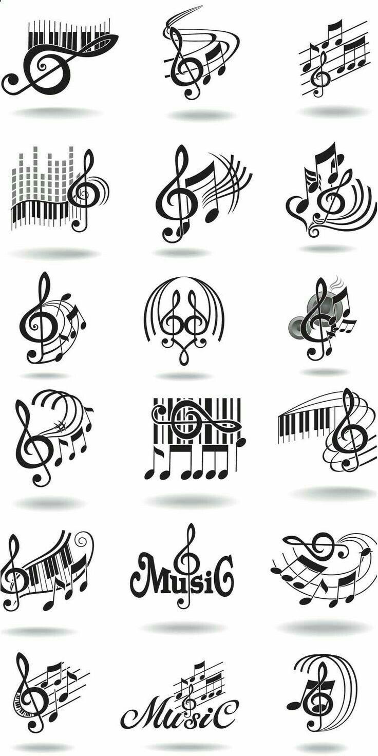 Pin von ummu auf Ornament Musik clipart, Musik tattoo