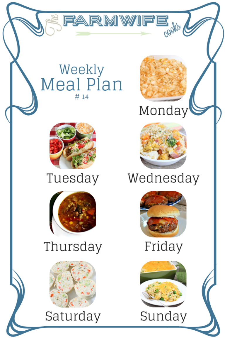 welcome to this week's meal plan i have a great group of recipes for