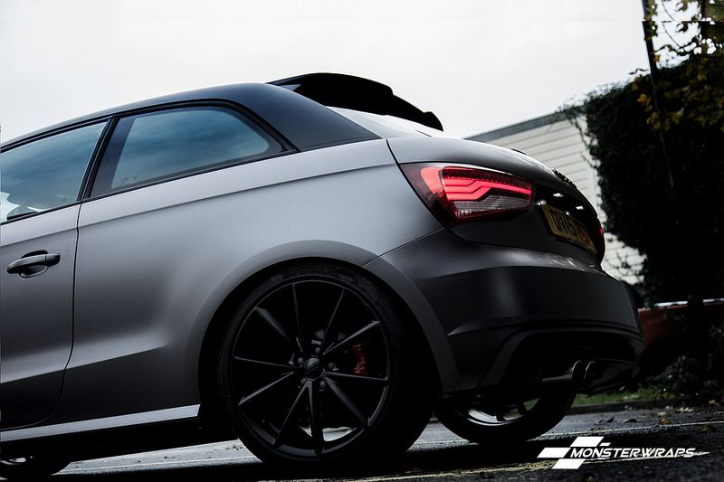 Audi A1 Satin Grey Black Full Wrap Audi A1 Audi Grey