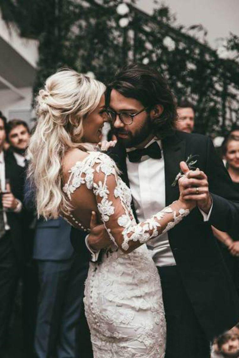 Durchsichtig Lange Ärmel Meerjungfrau Brautkleider Spitze Applique Brautkleid € 231.01 SAP9SZGA2Y #spitzeapplique