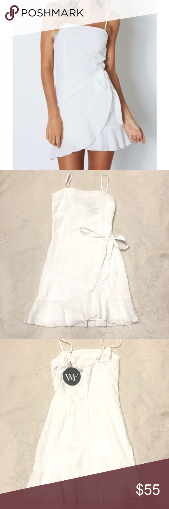 White Wrap Around White Fox Boutique Dress Never Been Worn And In Perfect Condition Whitefox Boutique Dresses White Wrap Dress Clothes Design Fashion [ 1740 x 580 Pixel ]