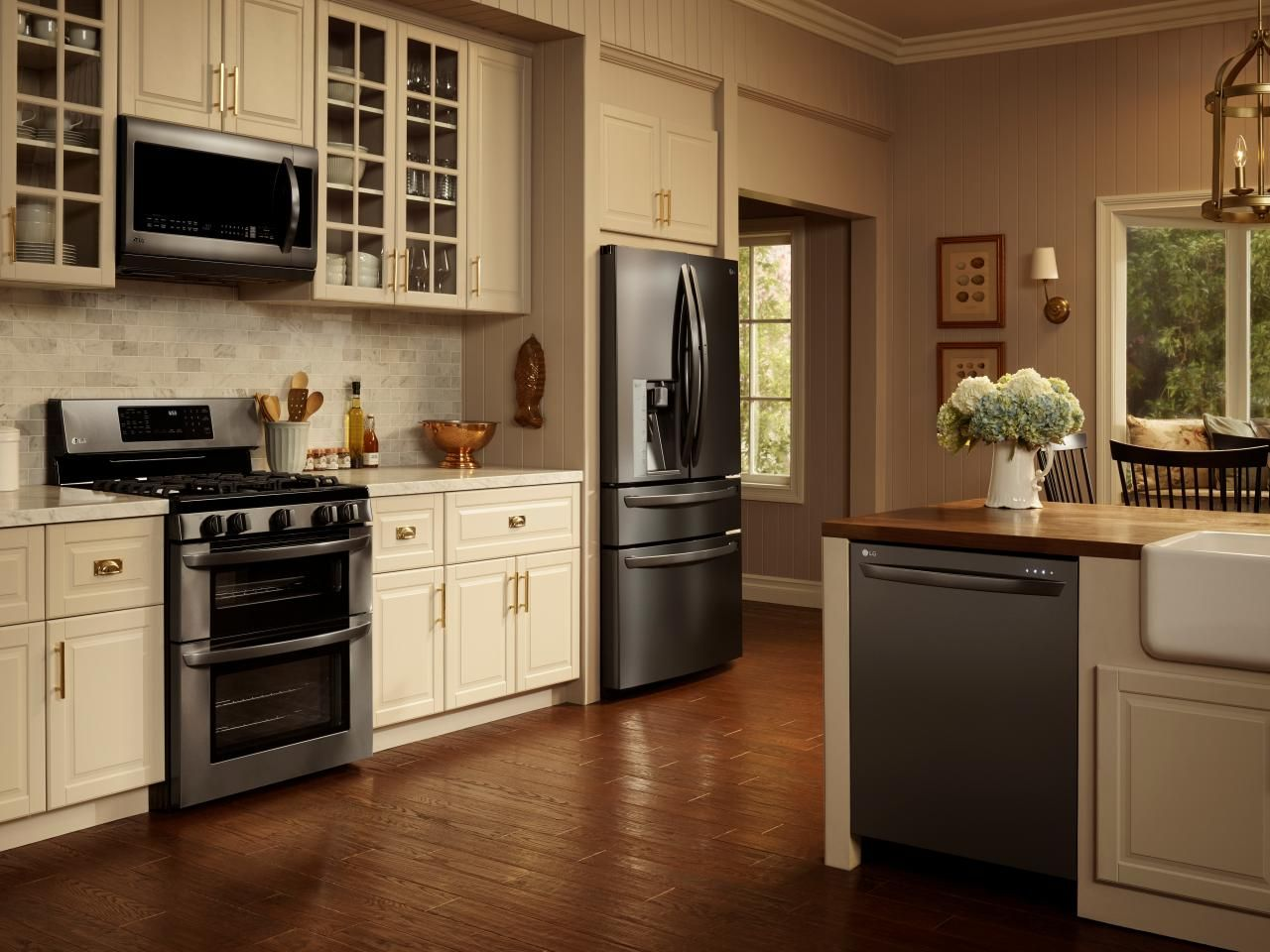 black and stainless kitchen my favorite thing about the new lg black stainless steel appliances is that they feel so much warmer than traditional stainless steel
